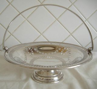 Mappin & Webb,  Silver Plated Swing Handle Fruit Bowl photo