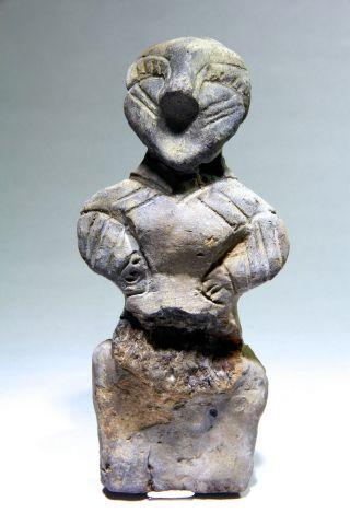 Scarce Ancient Neolithic Stone Age Vinca Culture Large Female Idol 5700 - 4500 Bc photo