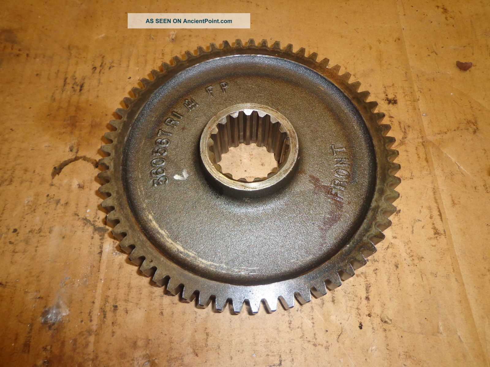 Vintage Large Steel Gear Steampunk Industrial Machine Age Antique Other photo