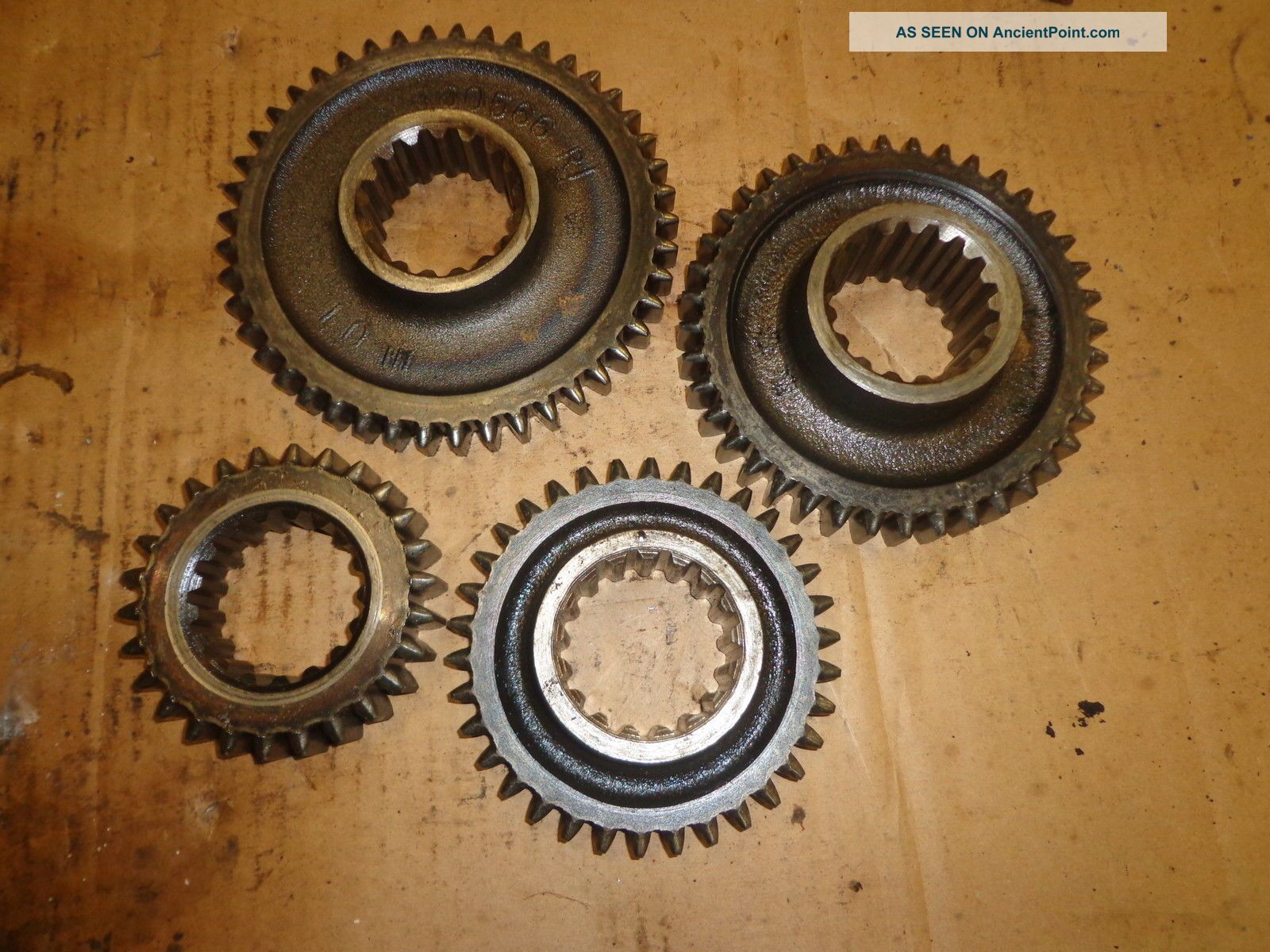 Vintage 4 Random Steel Gears Steampunk Industrial Machine Age Antique Other photo