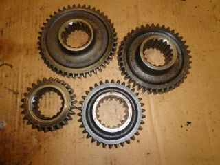 Vintage 4 Random Steel Gears Steampunk Industrial Machine Age Antique photo