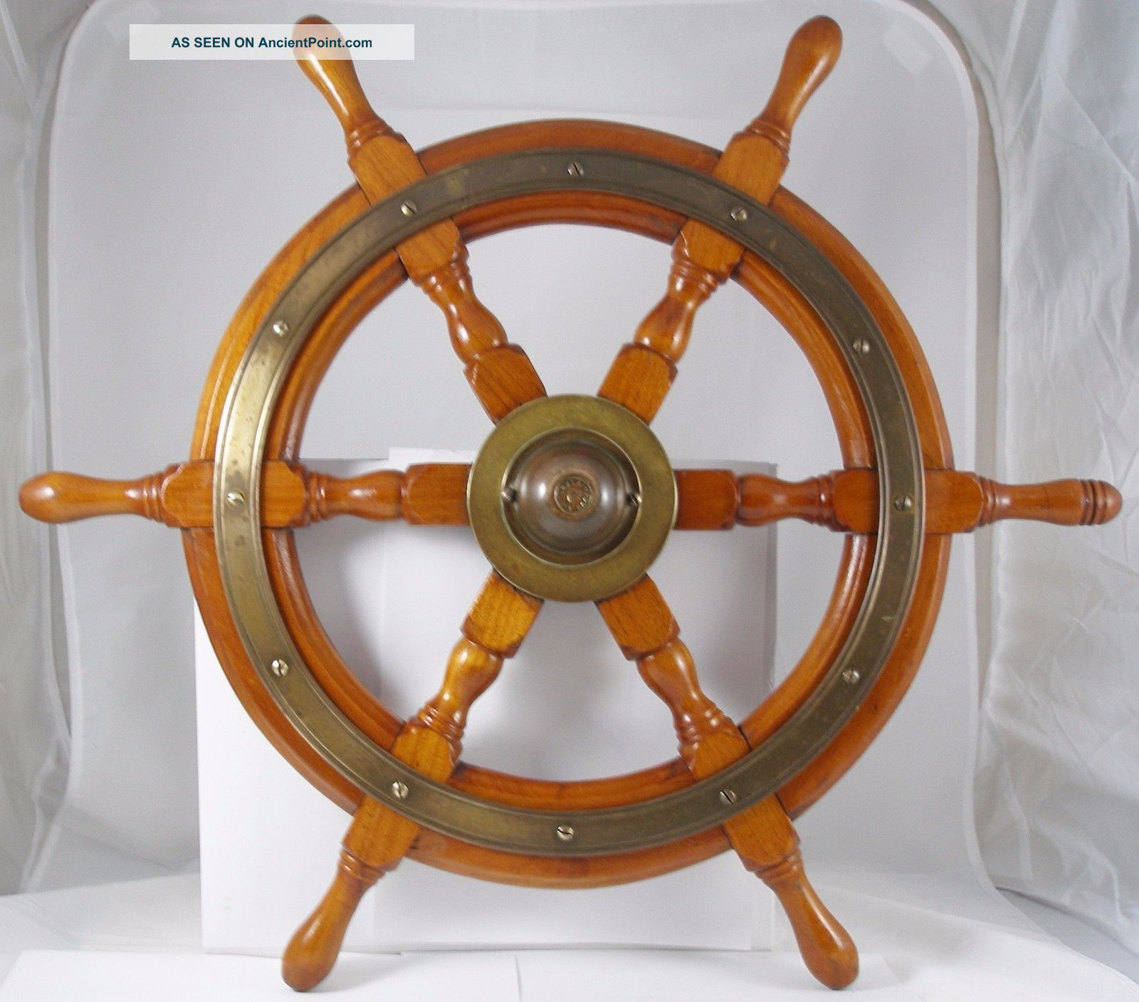 Antique Salvaged Helm Wheel Vintage Yacht Wheel Ship Wheel 24.  5