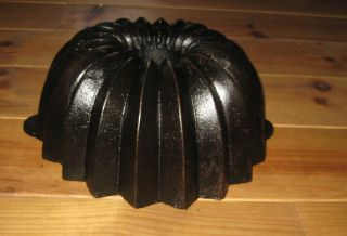 Rare Antique Cast Iron Bundt Pan From Germany 3387 G photo
