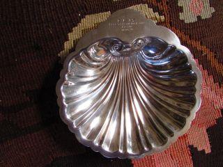 Rare,  Lovely 1950 C.  L.  I.  S Fleet Championship Award Sea Shell,  Prill Silver Co photo