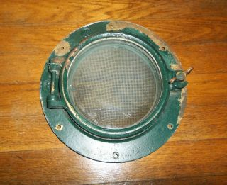 Vintage Wilcox Crittenden 6 Brass Or Bronze Boat Porthole W/screen,  Nautical photo