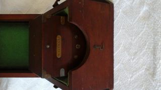 Wwii Waltham Chronometer Watch In Two Mahogany Wood Cases photo