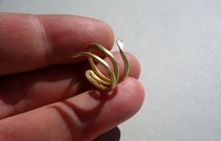 Ancient Roman Pure Gold 23k Snake Ring photo