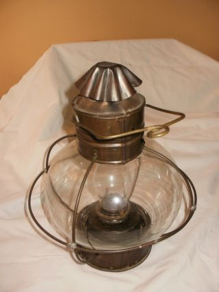 Brass Marine Onion Style Ships Lantern photo