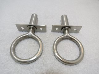 Pair Stainless Steel Custom Made 1,  15/16 Inch Oar Locks & Mounts Boat (ol 128) photo