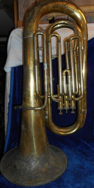 Antique Tuba,  Triebert Moderne 41252 Made In France,  For Repair - photo