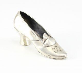 Gorham Sterling Silver Shoe Form Pin Cushion B12124; 126.  40g; C.  1920 photo