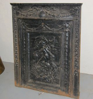 Antique Ornate Cast Iron Fireplace Insert,  Home,  Hearth,  Heating,  Architectural Salv photo