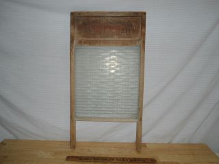 Vintage National Washboard 511 - Wood & Glass - Usa photo