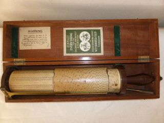Fuller ' S Calculator Spiral Slide Rule,  Mahogany Case,  Stanley photo