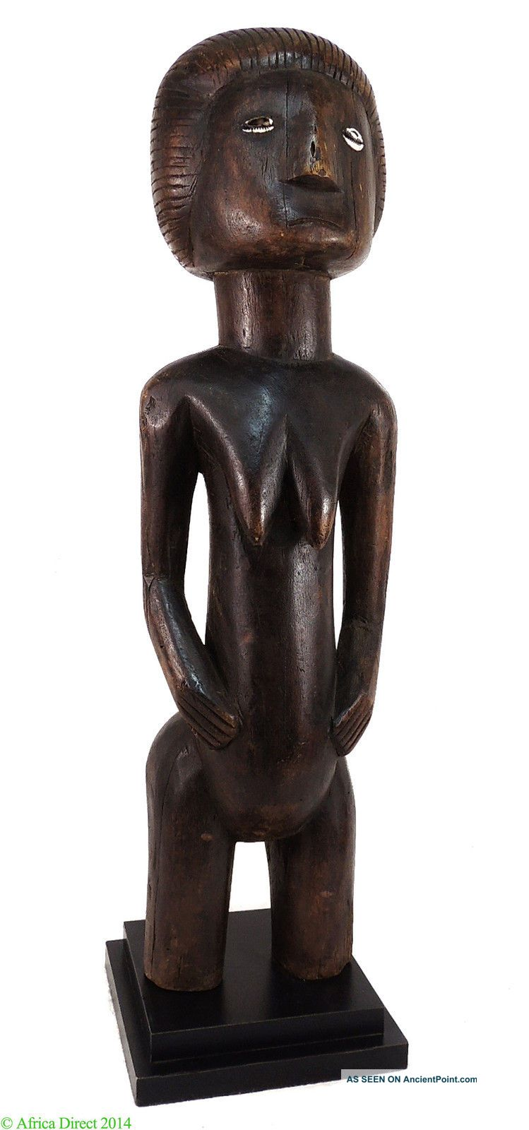 Bisa Female Figure Stand Zambia African Rare Was $590 Sculptures & Statues photo