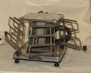 Vintage 4 Slice Swing Away Toaster - - Patent 1925 Estate Electric No.  177 photo
