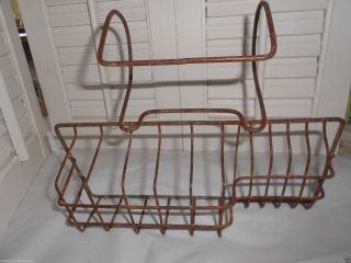 Antique Claw Foot Double Bath Tub Hanging Metal Wire Soap Dish Holder Basket photo