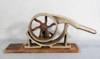 19c.  European Cast Iron Roller Cork Press Machine Apothecary Drugstore Wine Bar - photo