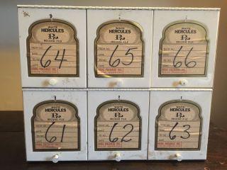 Hercules Rx Medical File Cabinet — Antique Vintage Medicine Pharmacy Industrial photo