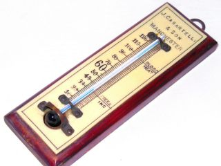 J.  Casartell & Son Manchester - Rare Antique Miniature Thermometer photo