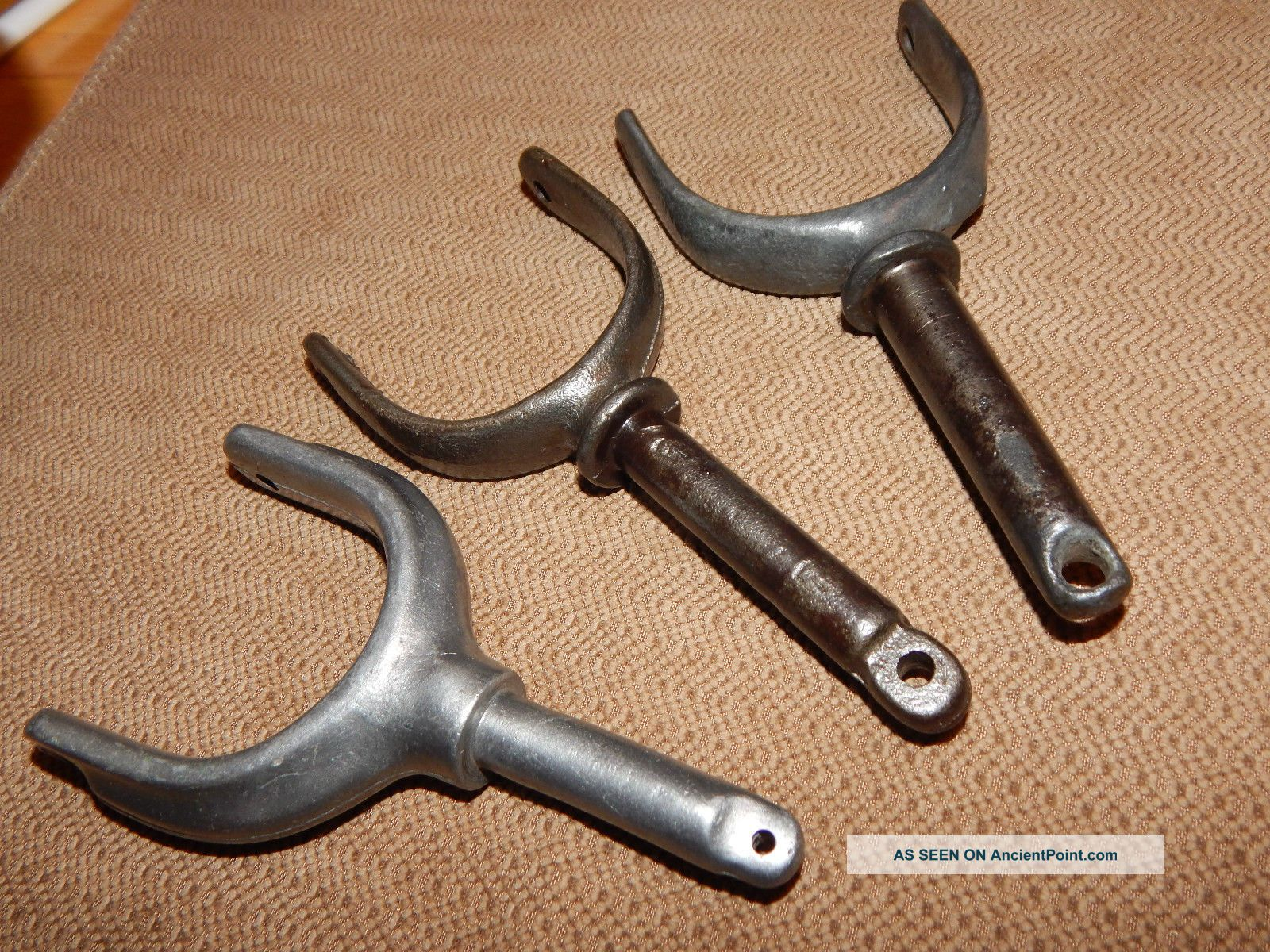Group Of 3 Vintage Oar Locks For Row Boat Other photo