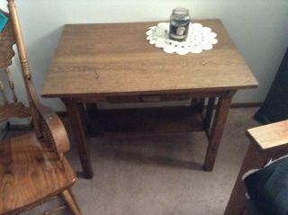 Antique Mission Parlor Table photo