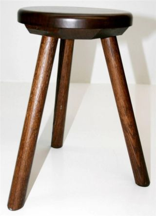 Vtg Wooden Stool Small Wood Seat Child Foot Primitive Rustic Country Chair Chic photo