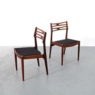 2 Chairs 101 By Johannes Andersen For Vamo 60s | Danish Modern Teak Stühle 60er photo