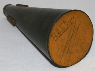 Antique 1920s 76 Lws Louis W Shastock Trumpet Straight Mute Cleveland Wood Vtg photo
