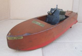 Vintage Jacrim Mfg Seaworthy Boats Wind Up Motor Boat 1920s photo
