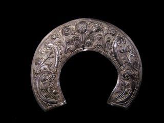 Antique 1700 - 1800s.  Silver Orthodox Icon Halo - Nimbus photo