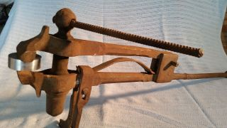 Antique Post Vise photo