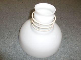 Architectural Salvage - Industrial Lighting Shade - White Glass photo