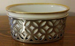 Lenox Sterling Silver Master Salt Dish Cellar photo