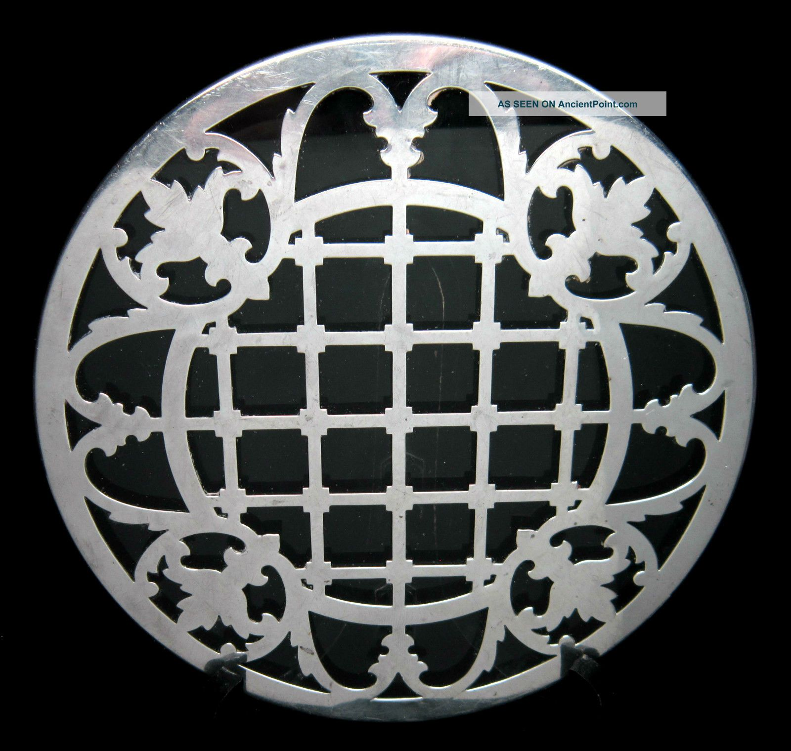 Antique Sterling Silver Overlay Glass 7