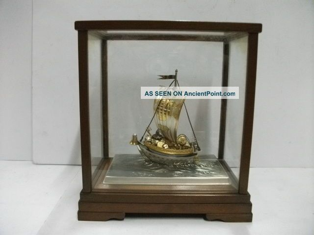 The Treasure Ship Of Silver Of The Most Wonderful Japan.  A Japanese Antique. Other photo