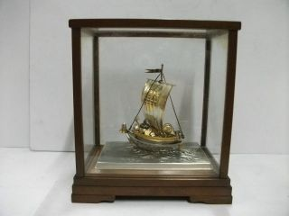 The Treasure Ship Of Silver Of The Most Wonderful Japan.  A Japanese Antique. photo