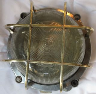 Cargo Ship Brass & Aluminium Passage Light 1 Piece photo