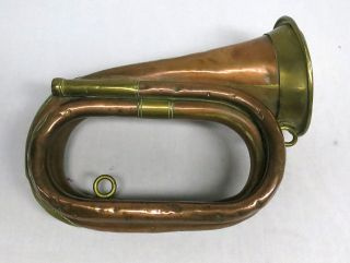 Vintage Antique Couesnon & Cie Bugle/horn Brass & Copper 1889 For T.  Claxton photo