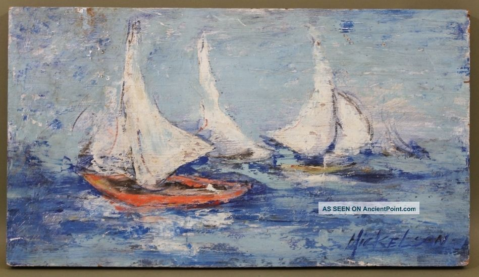 James Mickelson Rockport Sailboat Maritime Seascape Oil Painting Other photo