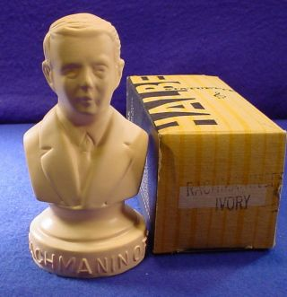 Halbe 6647 Composer 5  Inchtall Bust Statuette Rachmaninoff 1879 - 1948 Large photo