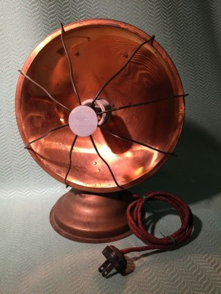 Vintage Monarch Brand Copper Radiant Heater,  Art Deco Electric photo