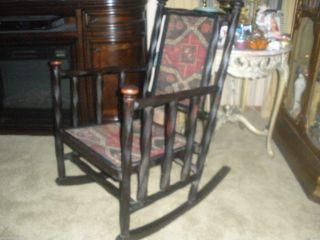 Antique Rocker Hunzinger Chair Rocking Chair Barley Twist Ebonized 1800 ' S Cabin photo