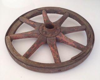 Antique Wood Wooden Spoke Wagon Wheel Vintage 8 Wood Spoke 10