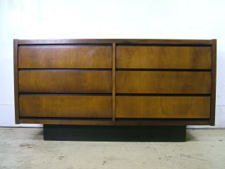 Mid Century Modern Danish Walnut Hidden Drawer Credenza Sideboard Dresser Lane photo