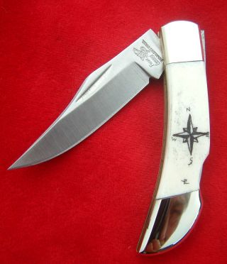 Scrimshaw,  Compass,  Frost Cutlery,  Lockback,  Folding Knife/knives photo