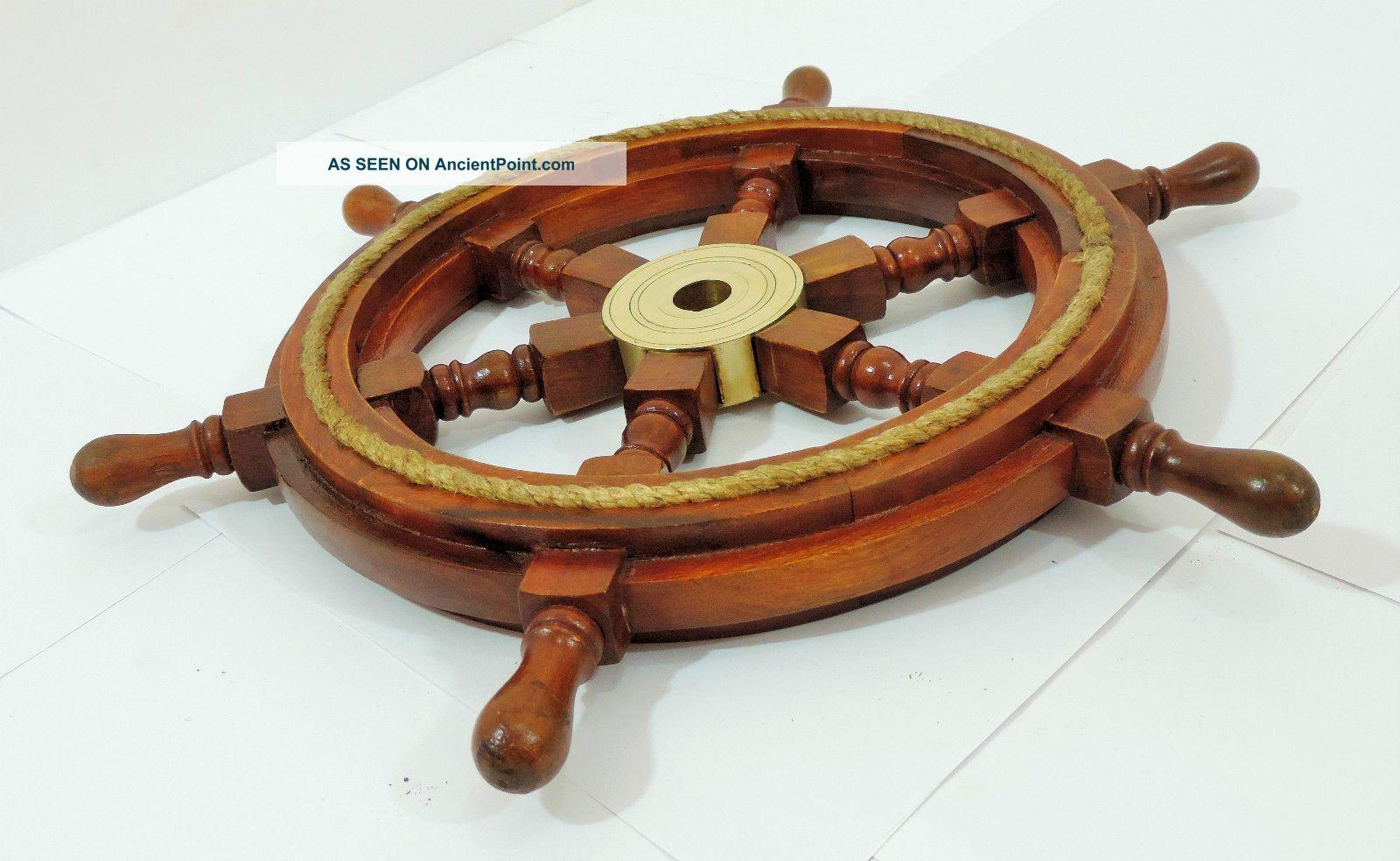 Ship Wheel 18inches Nautical Ship Wheel Boat Steering Wheel Maritime Decor Gift Ship Equipment photo