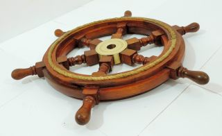 Ship Wheel 18inches Nautical Ship Wheel Boat Steering Wheel Maritime Decor Gift photo