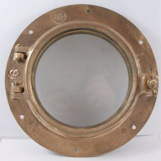Antique Bronze Porthole,  Salvaged Porthole Nautical Wc 6 Porthole Maratime photo