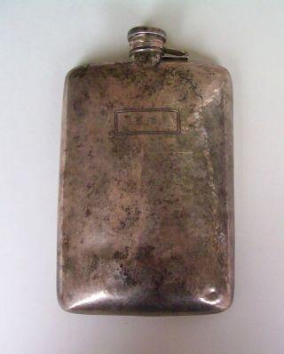 Antique Webster Sterling Silver Hip Flask Large 925 Not Scrap 235 Grams Signed photo